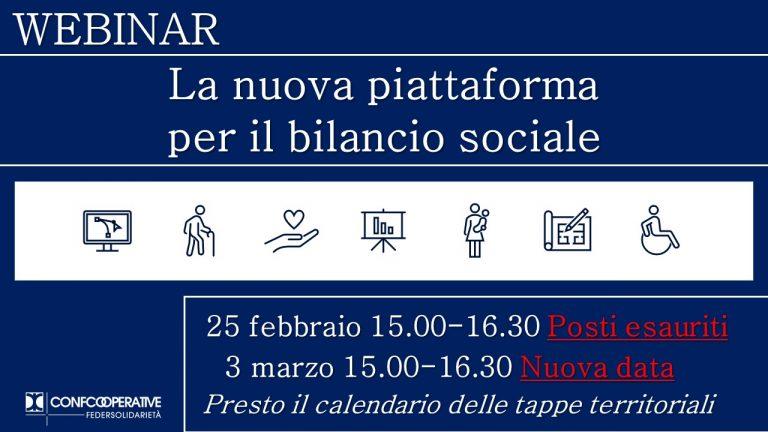 """Seconda data Webinar """"La nuova piattaforma per il bilancio sociale"""""""