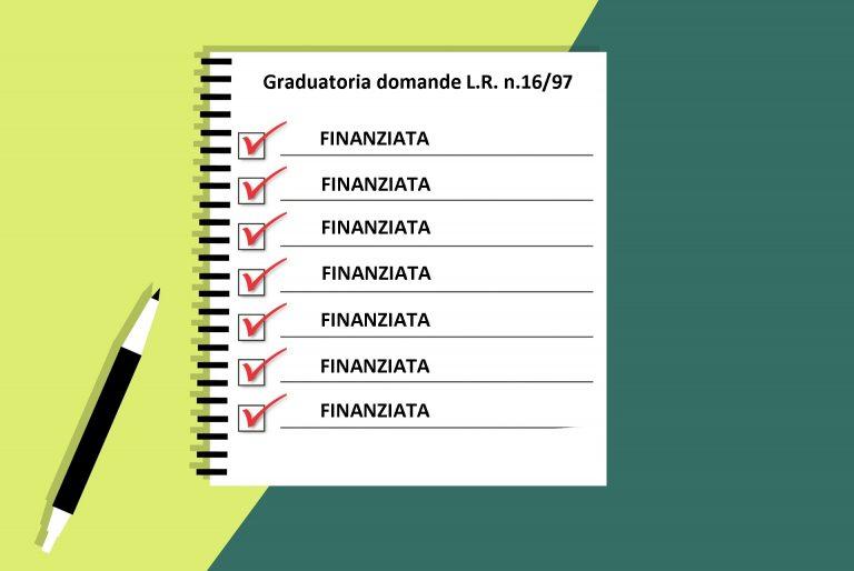 Finanziate tutte le domande della graduatoria L.R. n.16-97