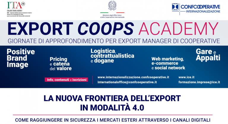 Export Coops Academy Ciclo di webinar sulla nuova frontiera dell'export
